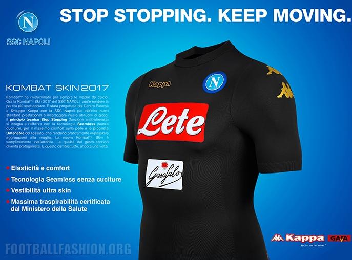 SSC Napoli Kombat Skin maglia third 3rd 2016//17 Kappa