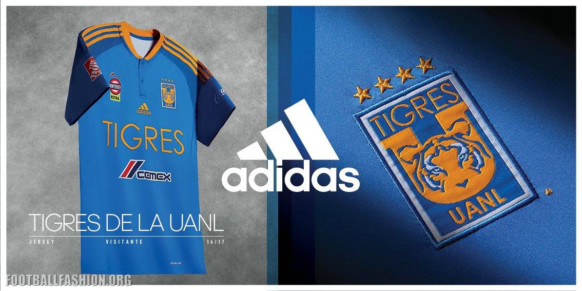 7037c474e ... tigres uanl 2016 2017 adidas home and away football kit soccer jersey  shirt