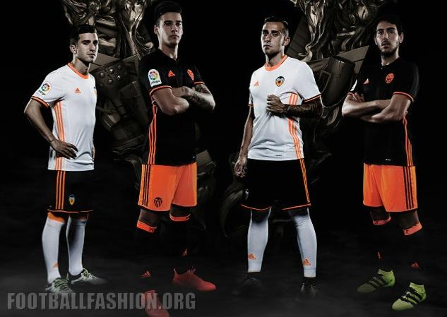 online store 676ca 641f2 Valencia CF 2016/17 adidas Home and Away Kits - FOOTBALL ...