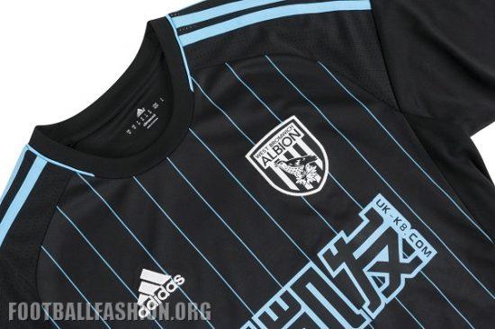 West Bromwich Albion 2016 2017 Black adidas Away Football Kit, Soccer Jersey, Shirt