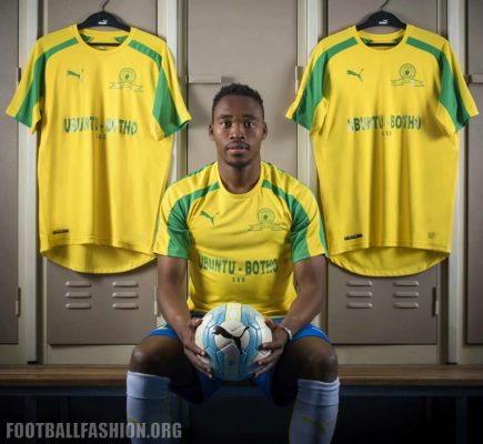 Mamelodi Sundowns 2016 2017 PUMA Home and Away Football Kit, Soccer Jersey, Kit