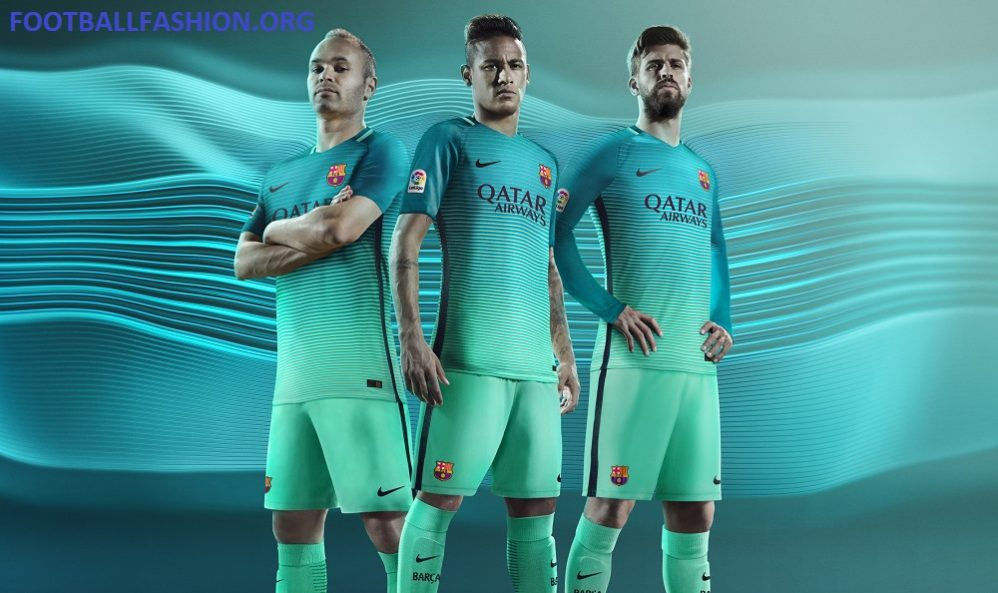 huge discount a21b9 7908a FC Barcelona 2016/17 Nike Third Kit - FOOTBALL FASHION.ORG
