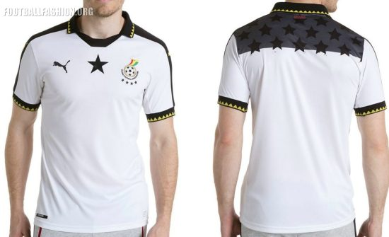 Ghana 2017 Africa Cup of Nations PUMA Home Football Kit, Soccer Jersey, Shirt, AFCON 2017
