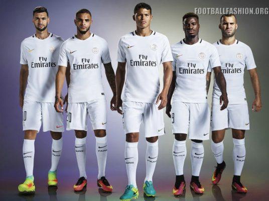 Paris Saint-Germain 2016 2017 Nike White Third Football Kit, Soccer Jersey, Shirt, Maillot Blanc, Camiseta, Camisa, Trikot