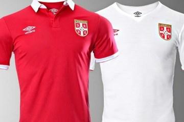 Serbia 2016 2017 Umbro Home and Away Football Kit, Soccer Jersey, Shirt, Novi Dres