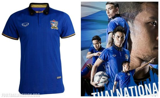 Thailand 2016 2017 Grand Sport World Cup Home and Away Football Kit, Soccer Jersey, Shirt