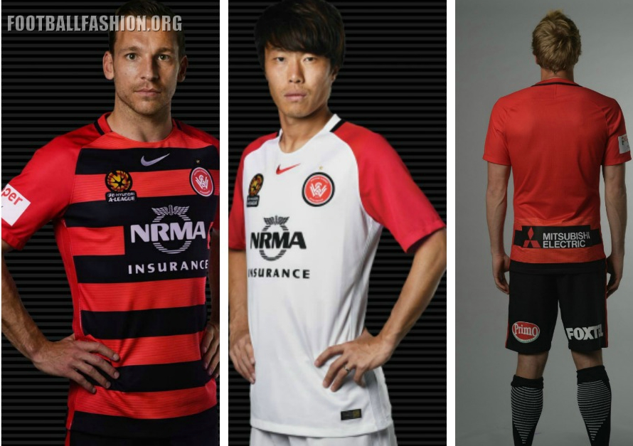 07f16bf3 Western Sydney Wanderers 2016 2017 Nike Home and Away Soccer Jersey, Shirt,  Kit