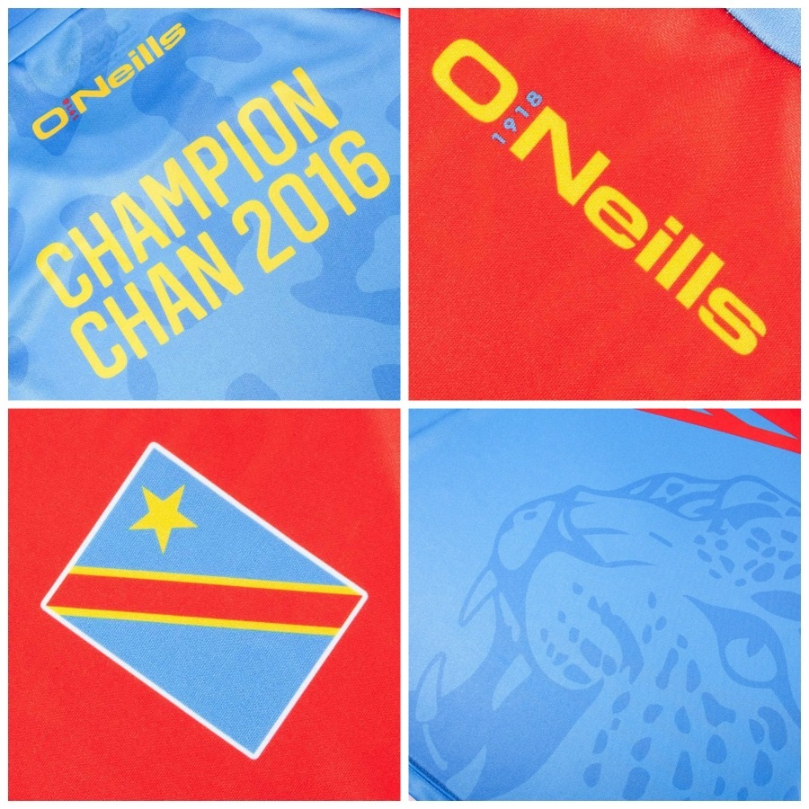 DR Congo 2016 CHAN Champions O Neills Kit – FOOTBALL FASHION.ORG 600d17acd