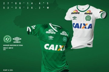 Chapecoense 2016 2017 Umbro Home, Away and Third Football Kit, Soccer Jersey, Shirt, Camisa do Futebol