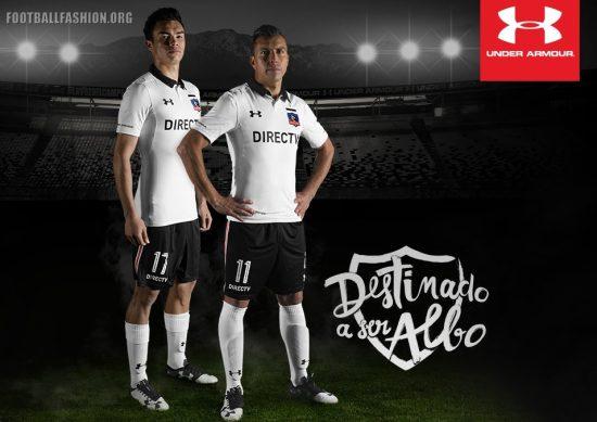 Colo-Colo 2017 Under Armour Home Football Kit, Soccer Jersey, Shirt, Camiseta de Futbol, Equipacion