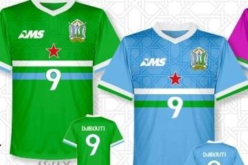 Djibouti 2016 2017 AMS Home and Away Football Kit, Soccer Jersey, Shirt, Maillot