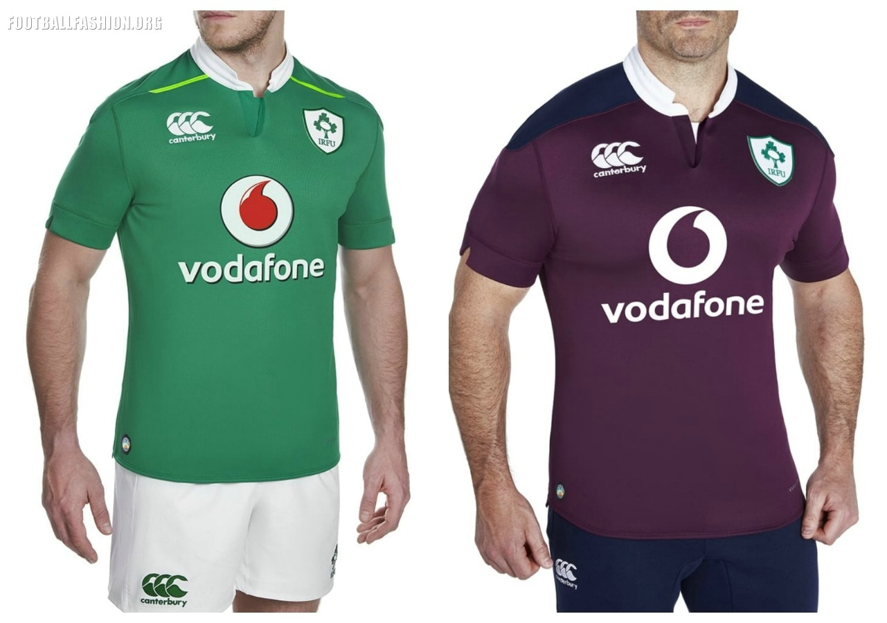 b2c3b4d4f07 Ireland Rugby 2016 2017 Canterbury Home and Away Kit, Jersey, Shirt