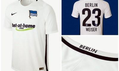 Hertha Berlin 2016/17 Nike Away and Third Soccer Jersey, Shirt, Kit, Trikiot