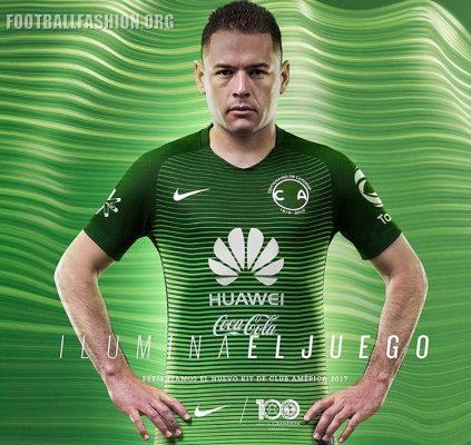 Club América 2017 Nike Third Soccer Jersey, Football Kit, Shirt, Camiseta de Futbol, Playera, Equipacion, Tercero Centenario