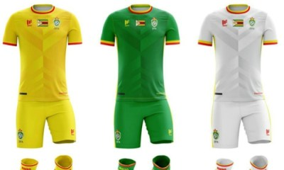 Zimbabwe 2017 Africa Cup of Nations Home, Away and Third Football Kit, Soccer Jersey, Shirt