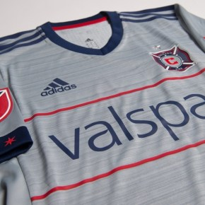 Chicago Fire 2017 adidas Away Soccer Jersey, Football Kit, Shirt, Camiseta de Futbol