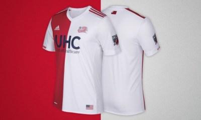 New England Revolution 2017 adidas Away Soccer Jersey, Shirt, Football Kit, Camiseta de Futbol, Equipacion, Playera
