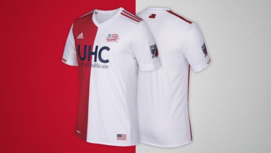 New England Revolution 2017 adidas Away Soccer Jersey, Shirt, Football Kit, Camiseta de Futbol, Equipacion, Playera