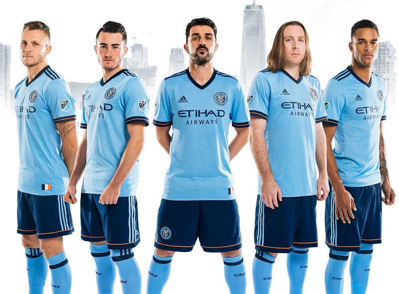480aceb5ee3 New York City FC 2017 adidas Home Soccer Jersey, Football Kit, Shirt,  Camiseta