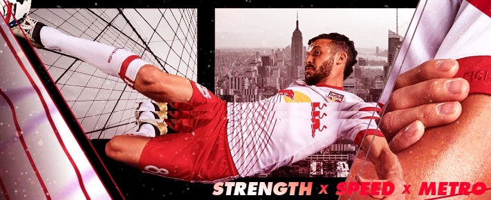 New York Red Bulls 2016 adidas Home Soccer Jersey, Football Kit, Shirt, Camiseta de Futbol