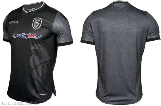 PAOK FC 2017 Limited Edition Macron Black Football Kit, Soccer Jersey, Shirt
