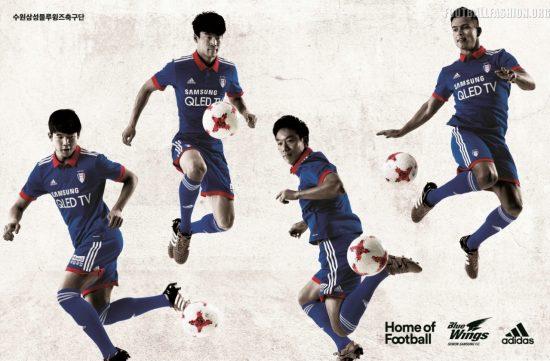 Suwon Samsung Bluewings 2017 adidas Home Football Kit, Soccer Jersey, Shirt