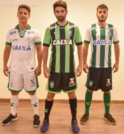 América MG 2017 Lupo Home, Away and Third Football Kit, Soccer Jersey, Shirt, Camiseta