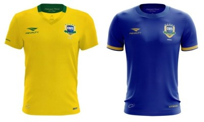 Brazil Futsal 2017 Penalty Home and Away Football Kit, Soccer Jersey, Shirt, Camisa