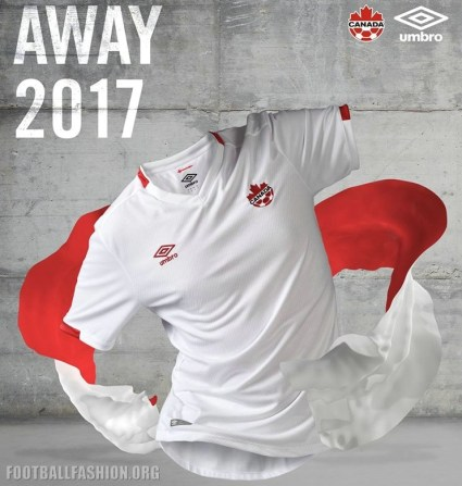 Canada 2017 2018 Umbro Home Soccer Jersey, Shirt, Football Kit, Maillot