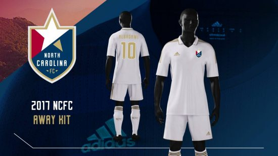 North Carolina FC 2017 adidas Soccer Jersey, Shirt, Kit, Camiseta de Futbol
