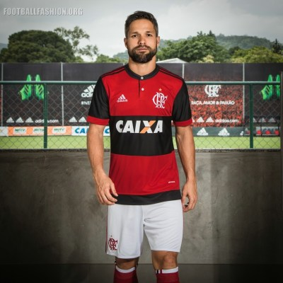 CR Flamengo 2017 2018 adidas Home Football Kit, Soccer Jersey, Shirt, Camisa, Camiseta