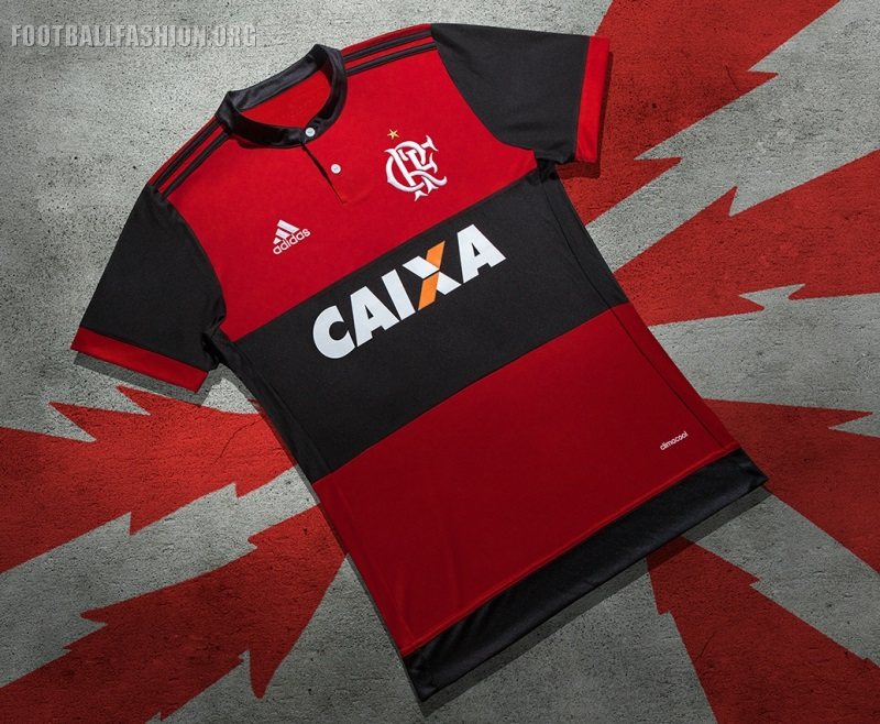 ... f4d149c2658 Camiseta Reserva 7 A 1 Elimina Masculina  82dfe2972ac The CR  Flamengo 2017 18 adidas home uniform is completed with white shorts and red  ... 8e2b1c9de1f5b