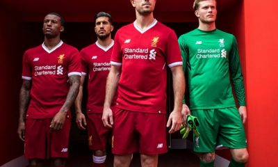 Liverpool FC 125th Anniversary 2017 2018 New Balance Home Football Kit, Soccer Jersey, Shirt, Camiseta, Camisa, Maillot, Trikot