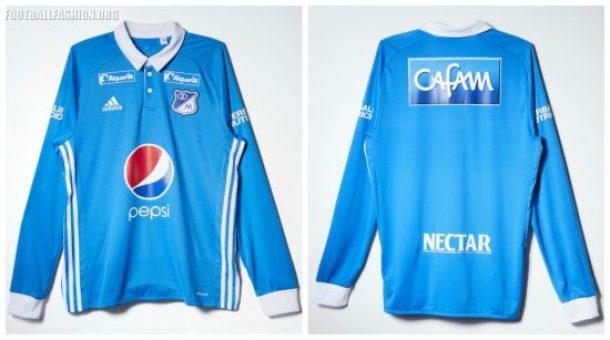 Millonarios FC 2017 adidas Home Football Kit, Soccer Jersey, Shirt, Camiseta de Futbol