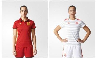 Spain Women's EURO 2017 adidas Home and Away Football Kit, Soccer Jersey, Shirt, España Camiseta de Futbol