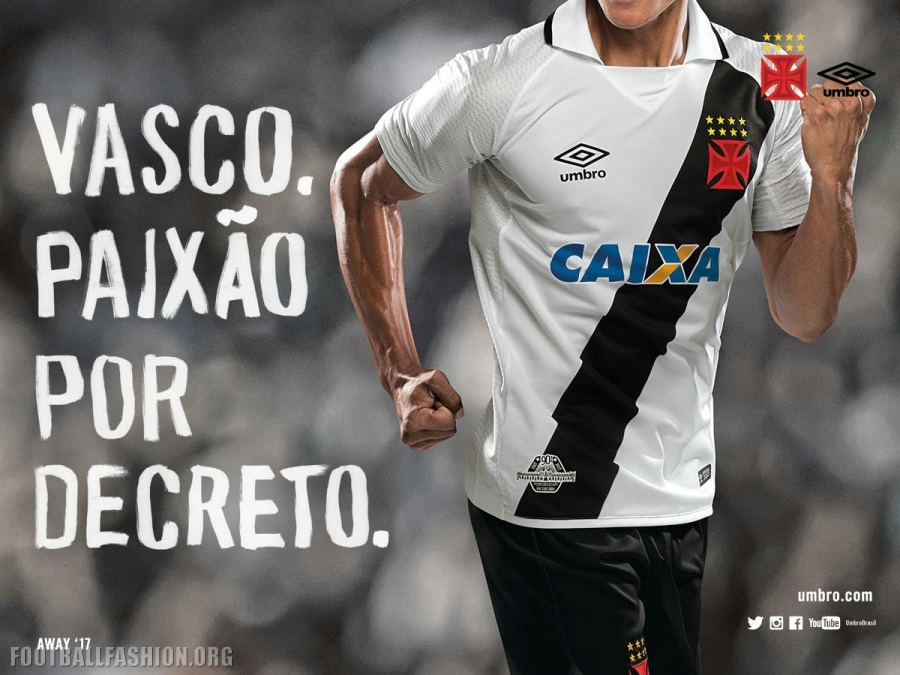49eec495327c9 CR Vasco da Gama 2017 Umbro Home and Away Kits - Football Fashion