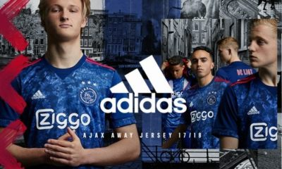 AFC Ajax Amsterdam 2017 2018 adidas Away Football Kit, Soccer Jersey, Shirt, Uitshirt, Uittenue