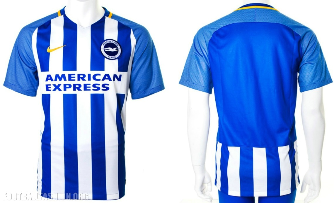 Brighton and Hove Albion 2017 2018 Nike Home Premier League Football Kit 7663f162b