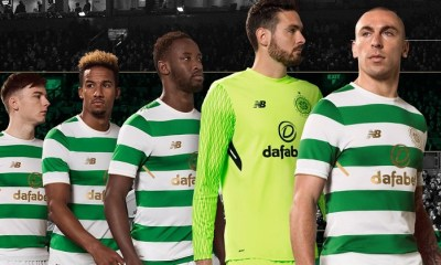 acedd852b Celtic FC Honor Lisbon Lions with 2017 2018 New Balance Home Football Kit