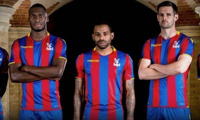 Crystal Palace FC 2017 2018 Macron Home Football Kit, Soccer Jersey, Shirt