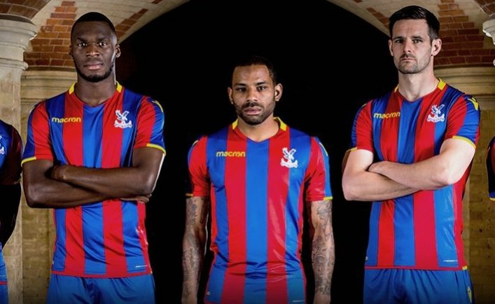 Crystal Palace FC 2017 2018 Macron Home Football Kit, Soccer Jersey, Shirt