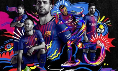 FC Barcelona 2017 2018 Nike Home Football Kit Soccer Jersey Shirt Camiseta