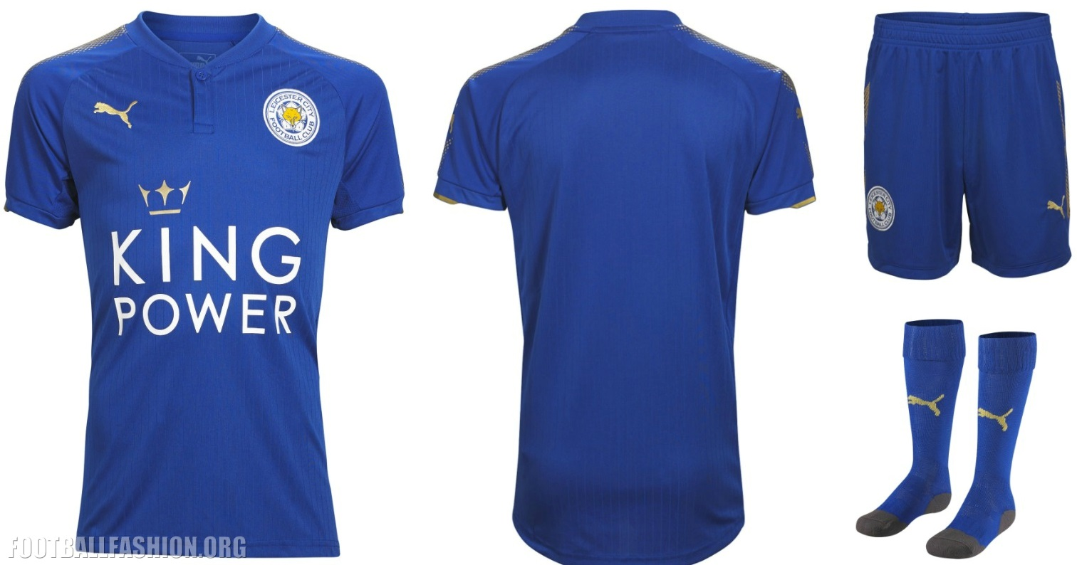 60f8fede235 Leicester City FC 2017 18 PUMA Home Kit - FOOTBALL FASHION.ORG