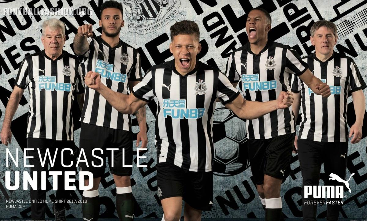 Newcastle United 2017 18 125th Anniversary PUMA Home Kit – FOOTBALL ... 2c590f7796a46
