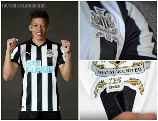 Newcastle United 2017 2018 125th Anniversary PUMA Home Football Kit, Soccer Jersey, Shirt, Maillot, Camiseta