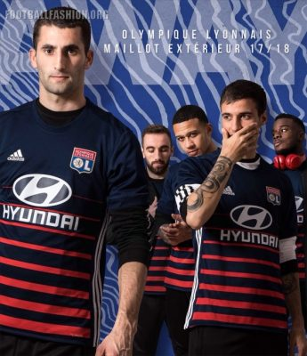 Olympique Lyon 2017 2018 adidas Home and Away Football Kit, Soccer Jersey, Shirt, Maillot, Tenue