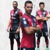 Cagliari Calcio 2017 2018 Macron Home Football Kit, Soccer Jersey, Maglia, Gara, Shirt, Camisa, Camiseta