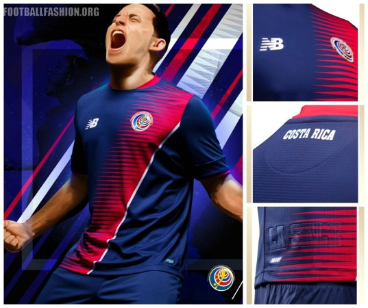 Costa Rica 2017 Gold Cup New Balance Third Football Kit, Soccer Jersey, Shirt, Camiseta de Fubol Copa Oro, Equipacion