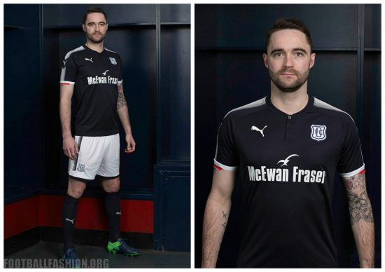 Dundee FC 2017 2018 PUMA Home Football Kit, Soccer Jersey, Shirt