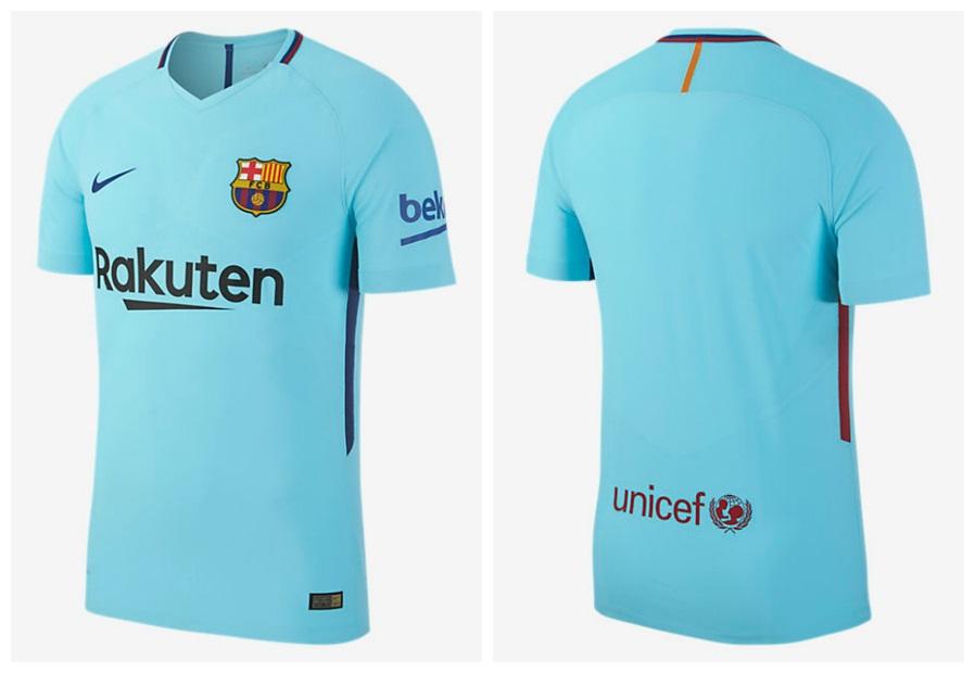 0c5b16dd2b1 FC Barcelona 2017 18 Nike Away Kit - FOOTBALL FASHION.ORG